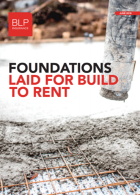 Foundations Laid for Build to Rent